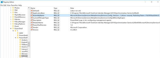 Cannot load Windows PowerShell snap-in MIIS MA Config on Microsoft