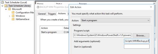 Microsoft Identity Manager Configuration backups - Scheduled MIM Backup Scheduler Task