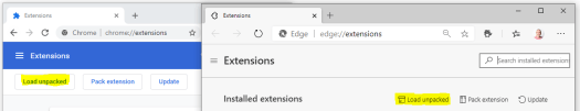 Chrome Chromium Load Unpacked Extension