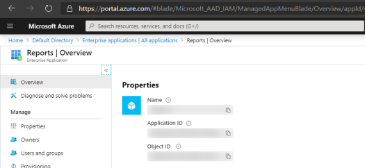 Masking Azure Application and Object ID