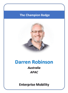 Darren Robinson Microsoft MVP Docs Champion Badge Enterprise Mobility Identity & Access Management