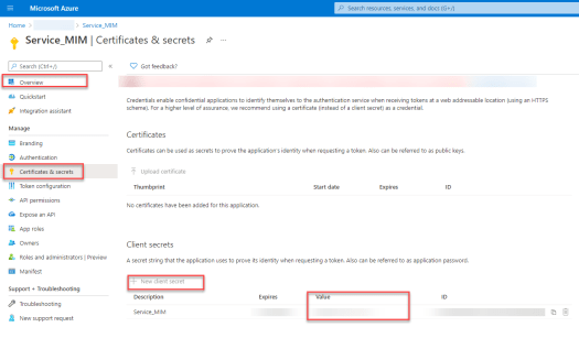 Dynamics 365 Finance & Operations Management Agent for Microsoft Identity Manager AAD Registered Application