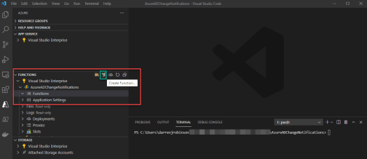 Azure AD Change Notification Function App