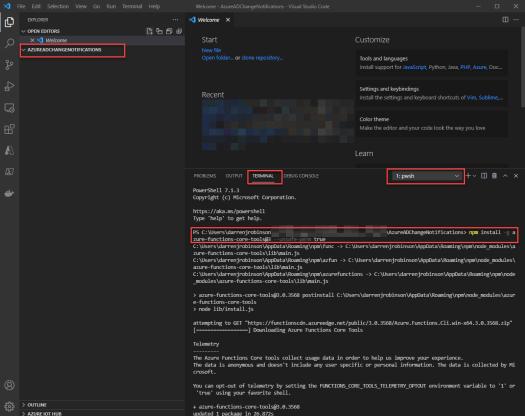 Azure AD Change Notification Azure PowerShell Function