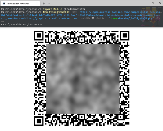 Customized Azure AD and Microsoft Office365 Deep Links and Sign In URLs. MyApps, MyAccess, MyAccount, SSPR. PowerShell AAD Login QR Codes