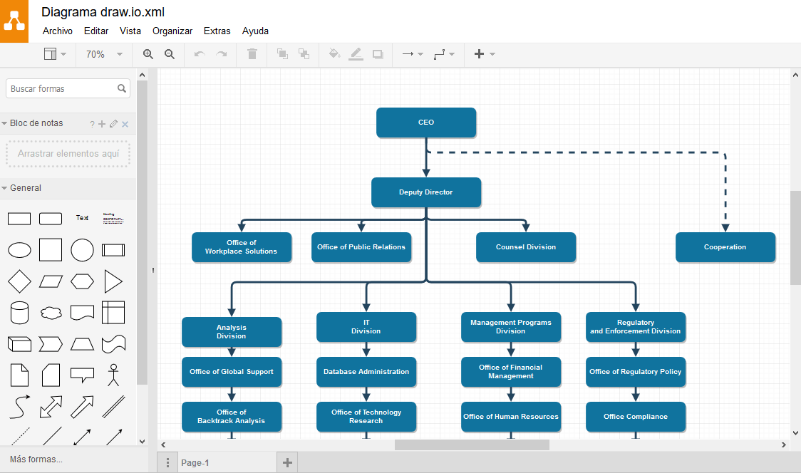 Tutorial de draw.io, software en la Nube para diagramas. - Blog de  Dataprius.