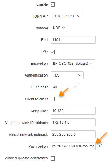 server TLS - ¿ Cómo usar un router Teltonika como un terminador VPN ?