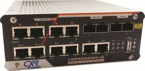 CopperWAY-Bis-GE – dispositivo sobre pares o fibra con múltiples interfaces