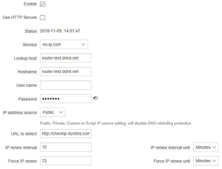 DDNS client RUT 1 - ¿ Cómo configurar el servicio de DNS dinámico en los routers Teltonika ?