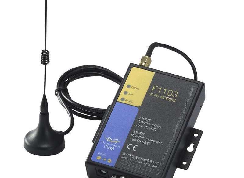 ¿ Cómo enviar un SMS con el módem F1103 a través de comandos AT ?