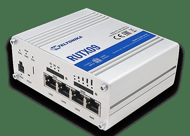 rutx09 1 - RUTX09 - Router LTE CAT6 Gigabit industrial de nueva generación