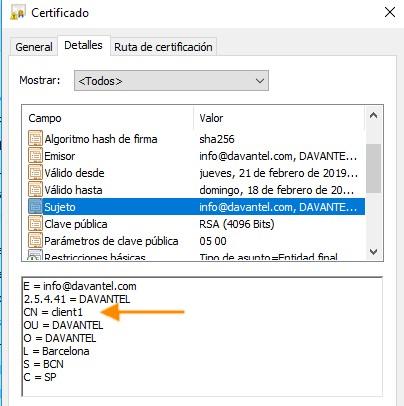 view certificate windows - ¿ Cómo crear una VPN con OpenVPN y routers Teltonika ? (III)