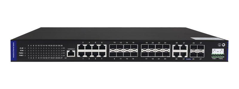 Switches industriales 19» L2 full Gigabit con puertos PoE opcionales