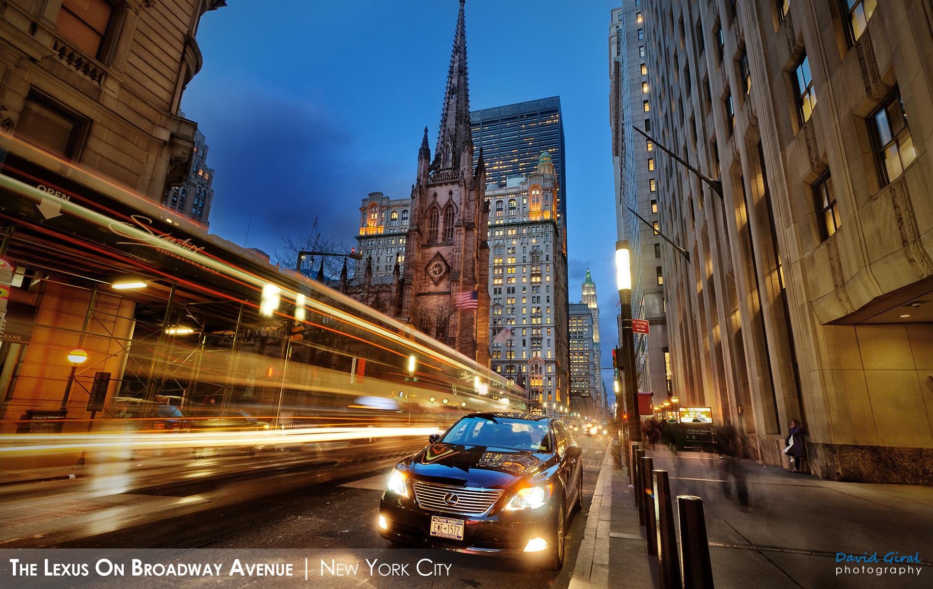Making The Lexus on Broadway Avenue New York City