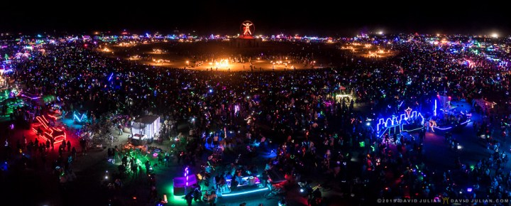 Burning Man- Burn overview Pano