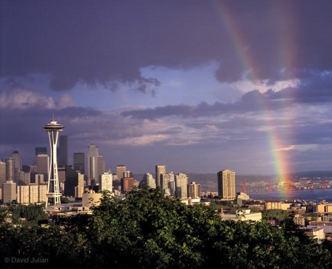 Seattle Skyline Rrainbows