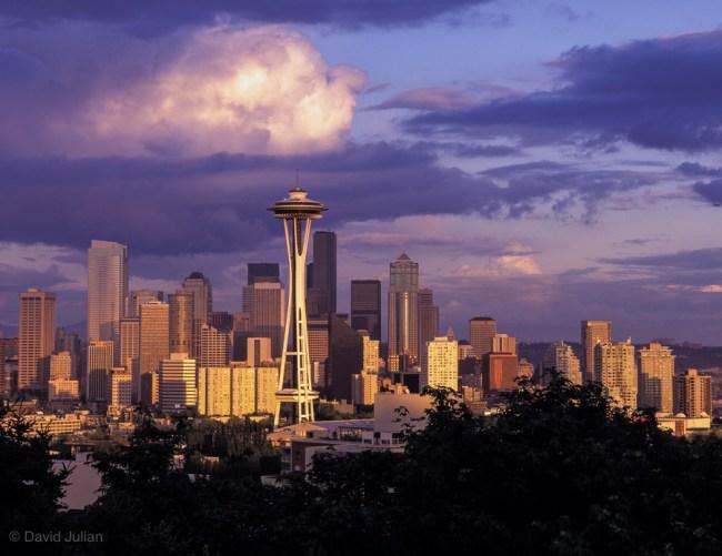 Seattle Skyline after Rain