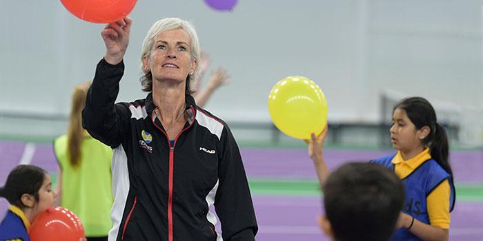 Judy Murray tennis shot