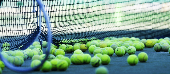 starting-tennis-balls-net