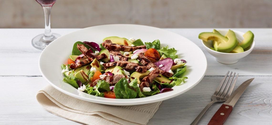 steak-avocado-salad
