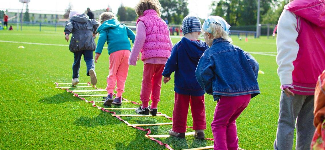 children-exercising