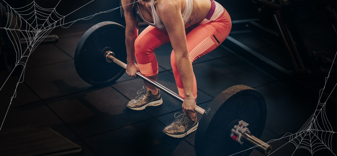 halloween-workout-woman-deadlift
