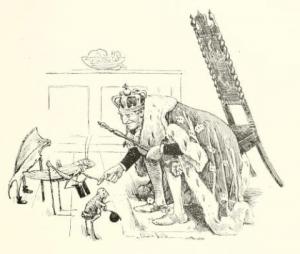 Grashüpfer hat Audienz bei König.