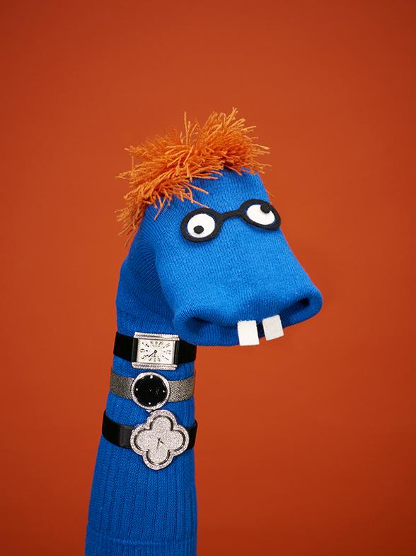 David Sykes Tatler sock puppets 1