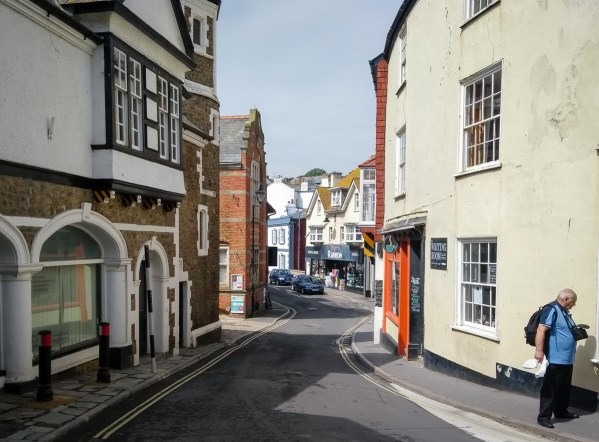 The narrow streets of Lyme Regis