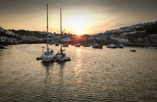 Sunset Mevagissey Harbour