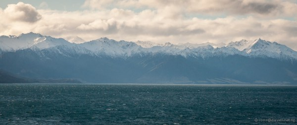 Lake Hawea and mountains - end of the day