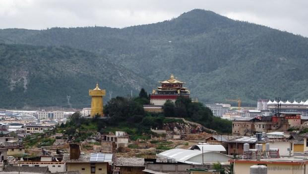 Prayer Drum and Golden Temple Shangrila
