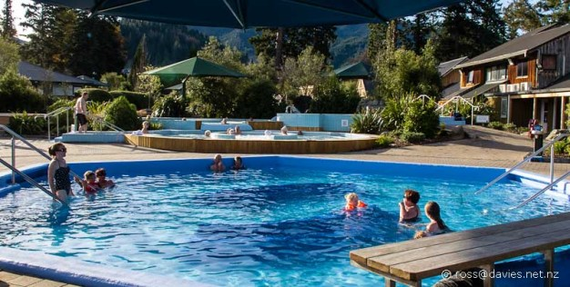 Hot pools at Hanmer Springs