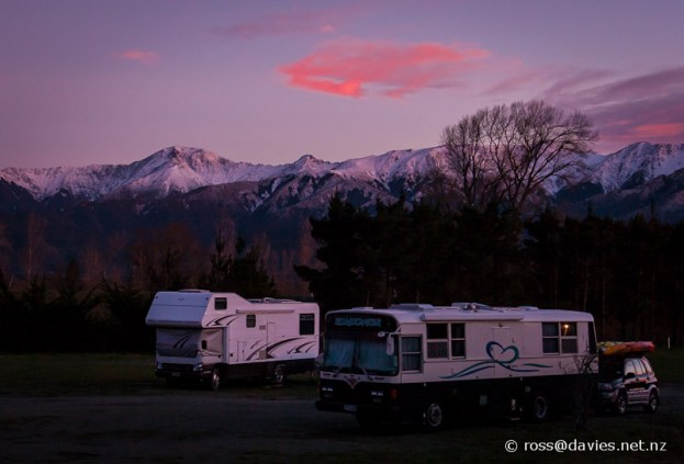 Sunrise near Hanmer Springs