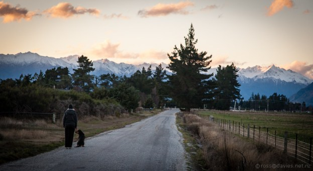 Hawea Flat on dusk