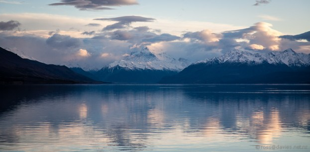 Mt Cook at the head of Lake Pukaki