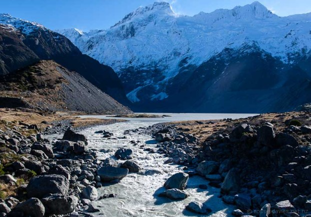Mt Sefton and the Sealy Glacier/Lake