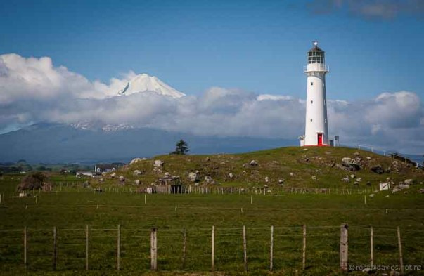 Cape Egmont lighthouse and Mt Taranaki