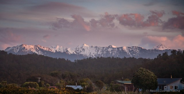Mountains east of Okarito Beach