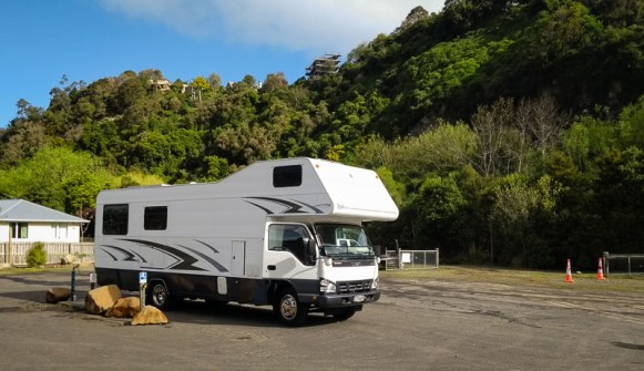Suzi motorhome at Woodhaugh