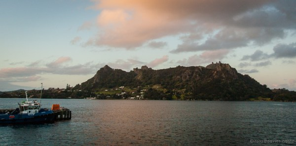 Mt Manaia from Marsden Point wharf