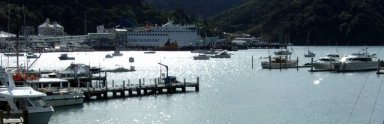 Picton waterfront and interisland ferry