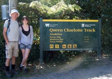 Start of Queen Charlotte Track
