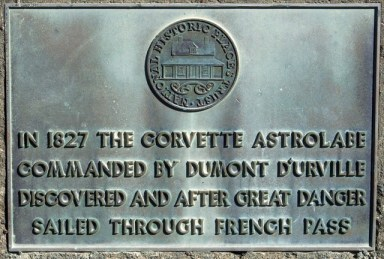 Plaque at French Pass