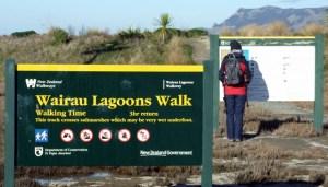 Wairau Estuary walk sign