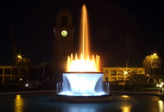 Seymour Square at night