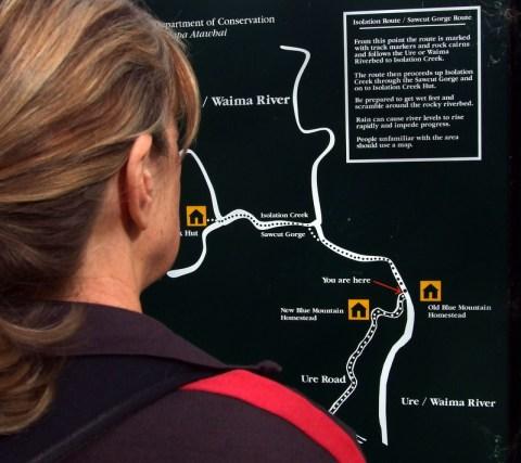Map Sawcut Gorge