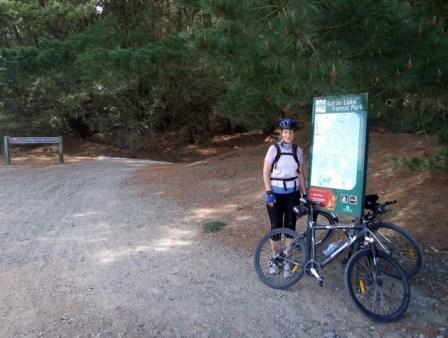 Wyn biking Bottle Lake