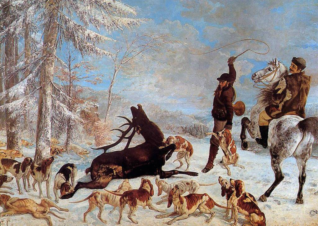 Gustave Courbet's L'Hallali Du Cerf (or 'Killing a Deer')