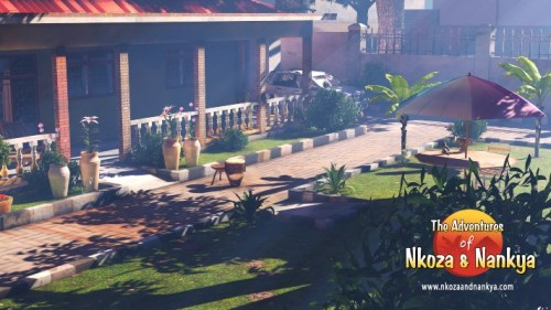 a render of one of the environments in the Nkoza and Nankya app